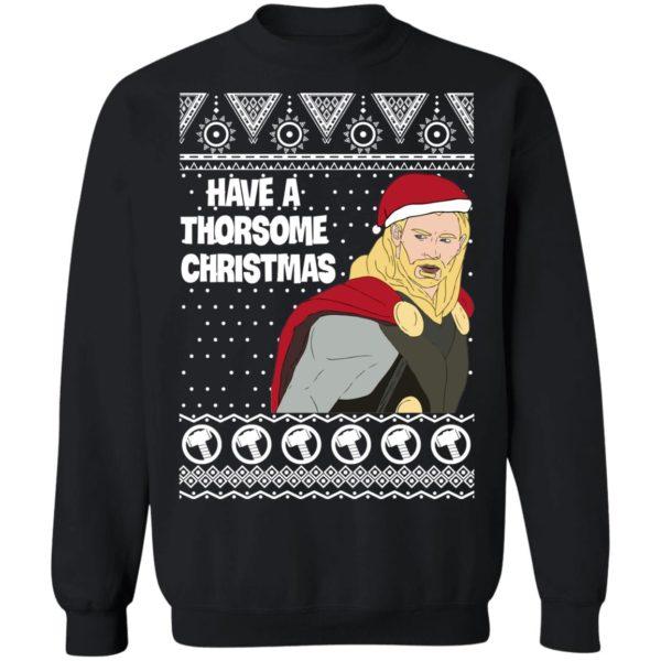 Thor Have a Thorsome Christmas God of Thunder Avengers Ugly Christmas Sweater
