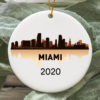 Miami City 2020 Christmas Tree Ornament