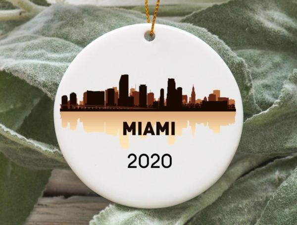 Miami City 2020 Christmas Tree Ornament