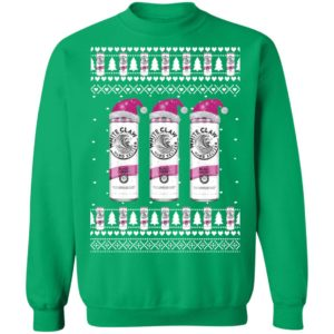 Black Cherry White Claw Hard Seltzer Ugly Christmas Sweater