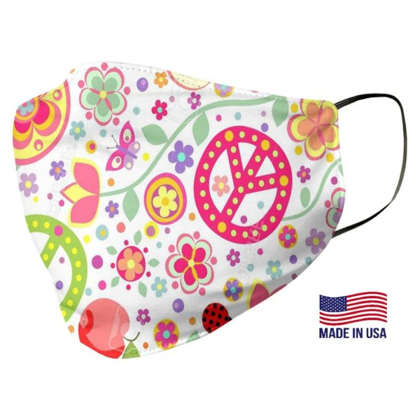 Peace Sign Pattern Face Mask