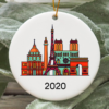 Paris City 2020 Christmas Tree Ornament