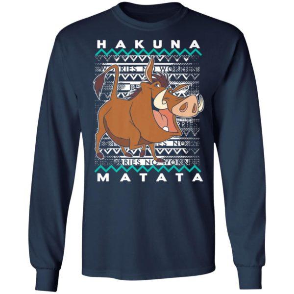 Disney Lion King Pumba Ugly Christmas Sweater