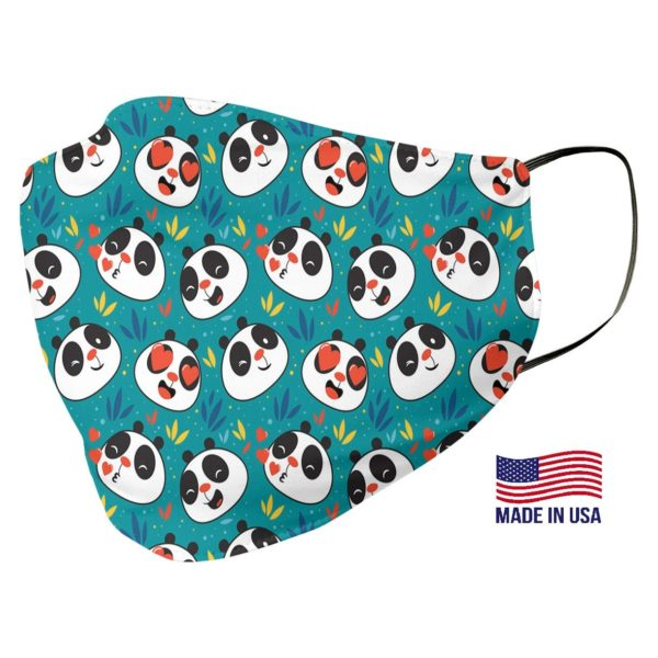 Panda Print Pattern Face Mask