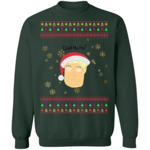 Donald Trump Quid Ho Ho Play On Words Ugly Christmas Sweater