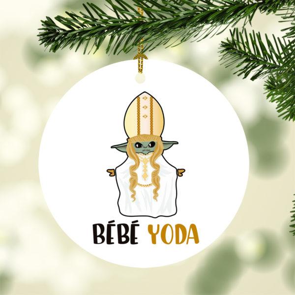 Stars Wars Bebe Yoda Funny Moira Rose Schitts Creek Baby Yoda Christmas Tree Decoration Ornament