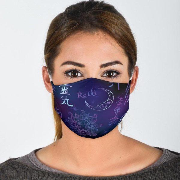 Reiki Symbol Healing Reusable Face Mask