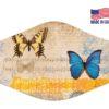 Butterfly Artistic Blue Orange Reusable Face Mask
