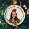 Kamala Harris Tis The Season To Be Jolly La La Tree Decoration Christmas Ornament