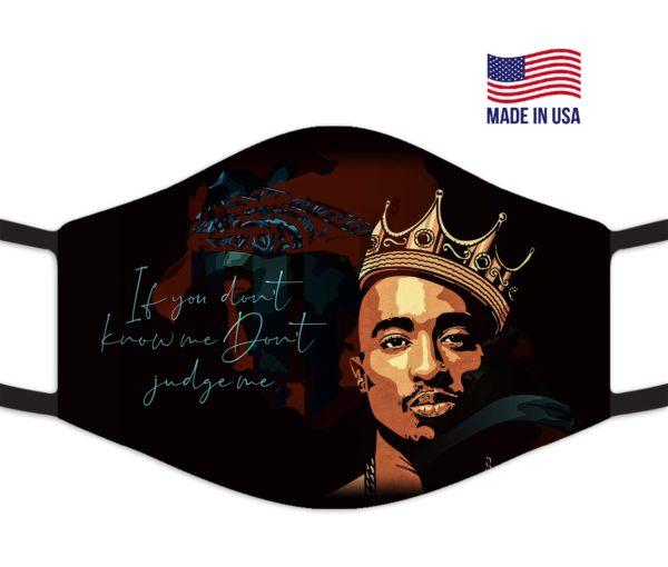 Designed Tupac CelebrityReusable Face Mask