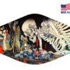 Japanese Skeleton Art Reusable Face Mask