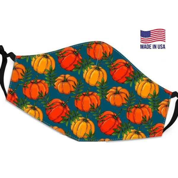 Autumn Pumpkin Vivid Reusable Face Mask