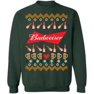 Budweiser Beer Funny Ugly Christmas Sweater Shirt