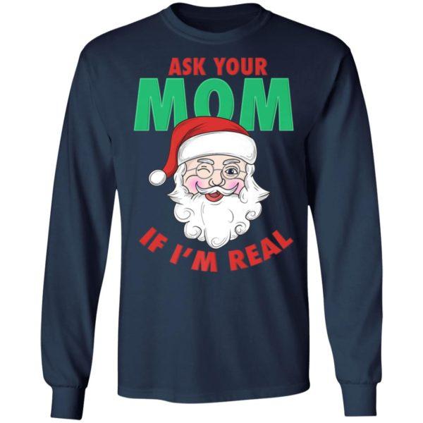 Ask Your Mom Santa Funny Naughty Ugly Christmas Sweater