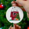 Atlanta Falcons Snoopy Christmas Circle Ornament