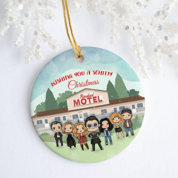 Wishing You A Schitty Christmas Rosebud Motel Schitts Creek Tree Decoration Christmas Ornament
