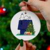 New York Giants Snoopy Christmas Circle Ornament