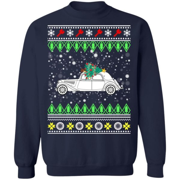 Citroen Traction Avant Classic Car Ugly Christmas Sweater