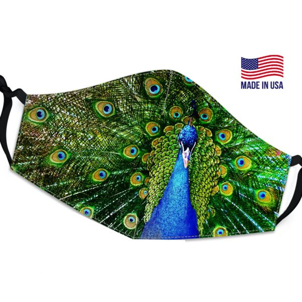Colorful Peacock Reusable Face Mask