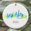 Chicago City 2020 Christmas Tree Ornament