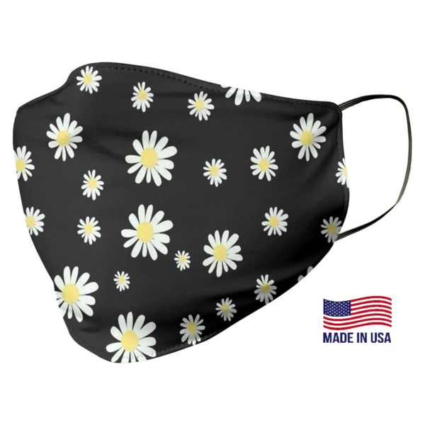 Daisy Flower Pattern Face Mask