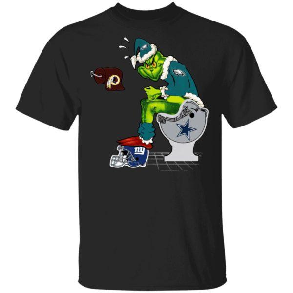 Santa Grinch Philadelphia Eagles Shit On Other Teams Christmas Sweater, Shirt