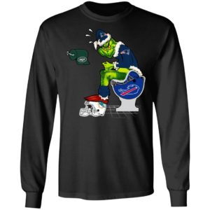 Santa Grinch New England Patriots Shit On Other Teams Christmas Sweater, Shirt