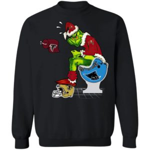Santa Grinch Tampa Bay Buccaneers Shit On Other Teams Christmas Sweater, Shirt