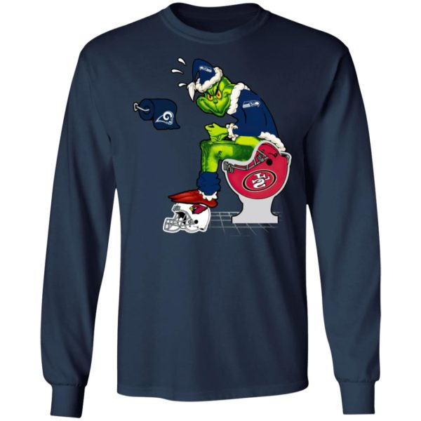 Santa Grinch Seattle Seahawks Shit On Other Teams Christmas Sweater, Shirt