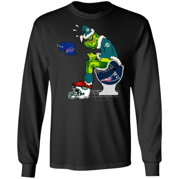 Santa Grinch Miami Dolphins Shit On Other Teams Christmas Sweater, Shirt