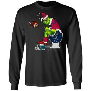 Santa Grinch New York Giants Shit On Other Teams Christmas Sweater, Shirt