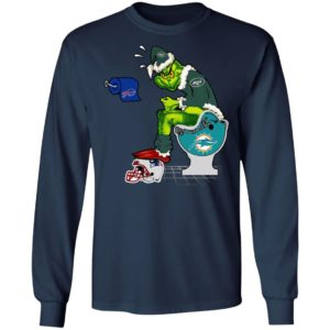 Santa Grinch New York Jets Shit On Other Teams Christmas Sweater, Shirt