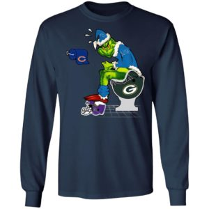 Santa Grinch Detroit Lions Shit On Other Teams Christmas Sweater, Shirt
