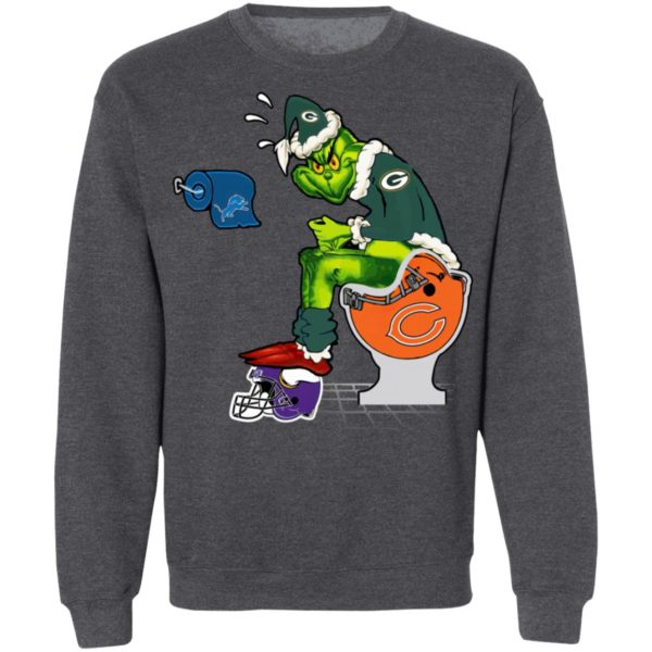 Santa Grinch Green Bay Packers Shit On Other Teams Christmas Sweater, Shirt