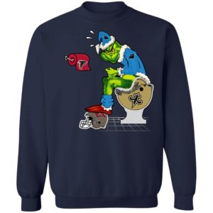 Santa Grinch Carolina Panthers Shit On Other Teams Christmas Sweater, Shirt