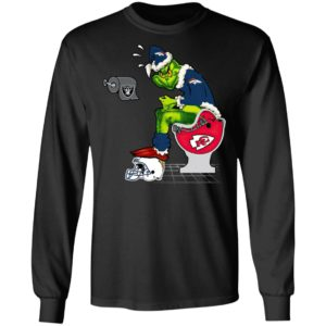 Santa Grinch Denver Broncos Shit On Other Teams Christmas Sweater, Shirt