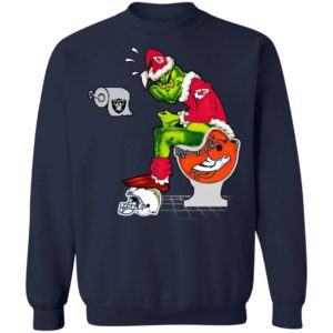 Santa Grinch Kansas City Chiefs Shit On Other Teams Christmas Sweater, Shirt
