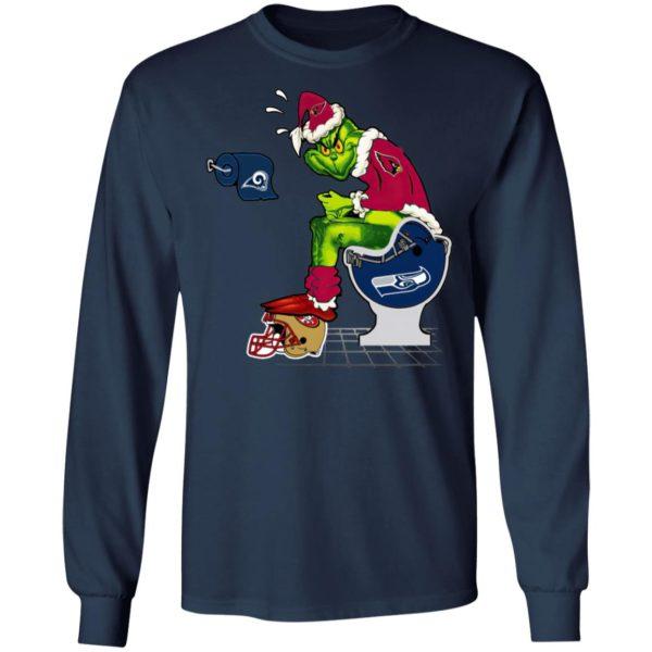 Santa Grinch Arizona Cardinals Shit On Other Teams Christmas Sweater, Shirt