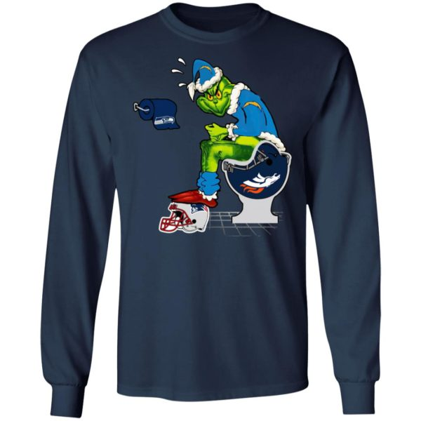 Santa Grinch Los Angeles Chargers Shit On Other Teams Christmas Sweater, Shirt