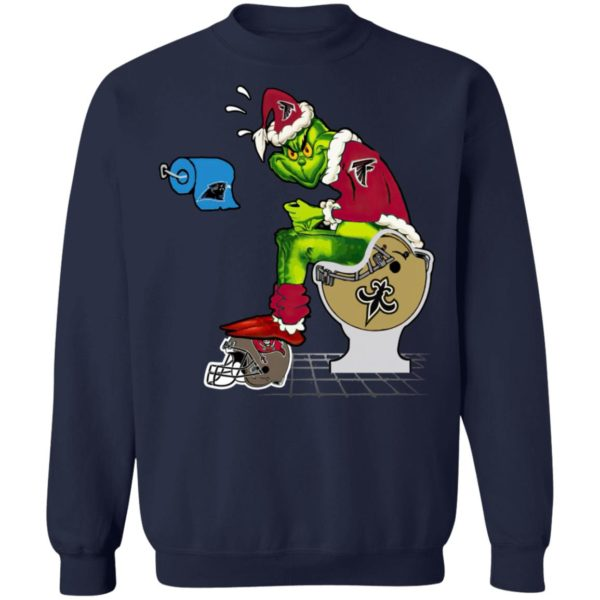 Santa Grinch Atlanta Falcons Shit On Other Teams Christmas Sweater, Shirt