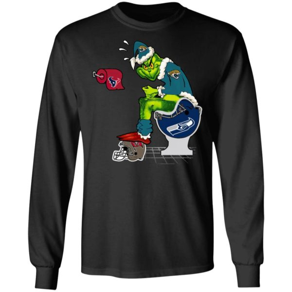 Santa Grinch Jacksonville Jaguars Shit On Other Teams Christmas Sweater, Shirt