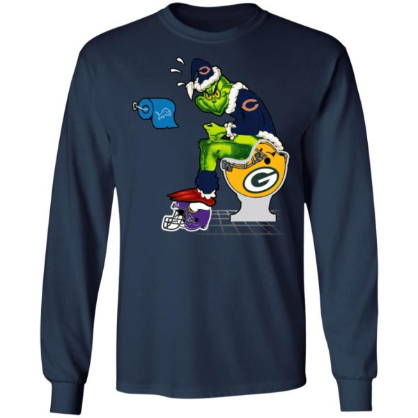 Santa Grinch Chicago Bears Shit On Other Teams Christmas Sweater, Shirt