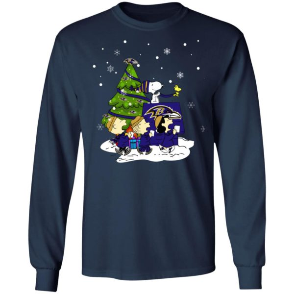 Snoopy The Peanuts Baltimore Ravens Christmas Sweater