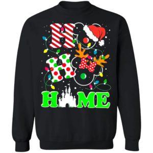 Ho Ho Home Mickey Mouse Christmas Light Sweatshirt
