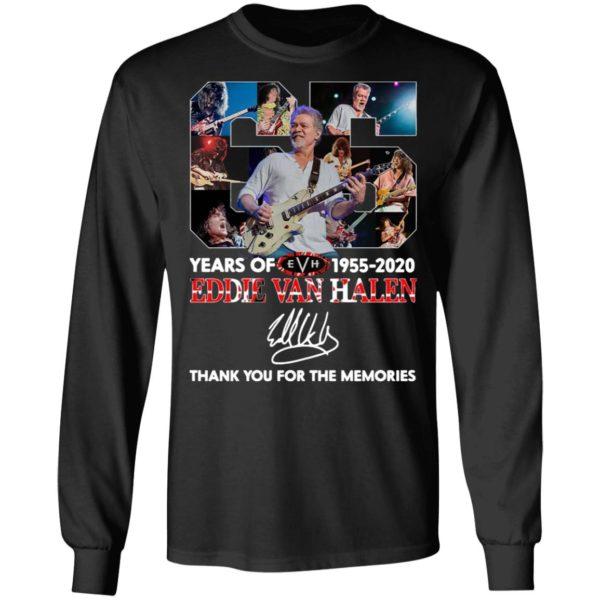 65 Years Of Eddie Van Halen 1955 2020 Thank You For The Memories Signature Shirt