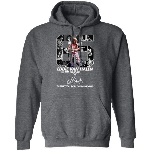 Official 65 Eddie Van Halen 1955 2020 Thank You For The Memories Signature Shirt