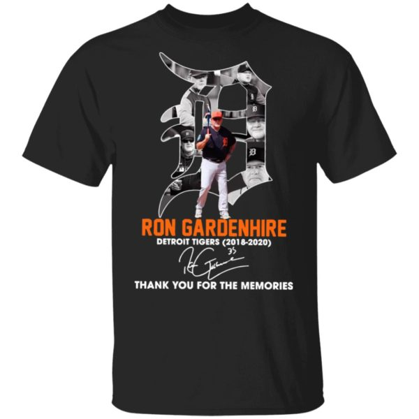 Ron Gardenhire Detroit Tigers 2018 2020 Thank You For The Memories Signature Shirt