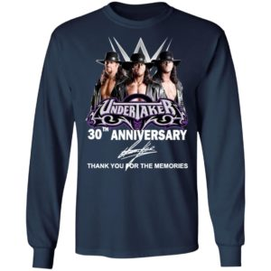 Undertaker 30th Anniversary Thank You For The Memories Signature Shirt