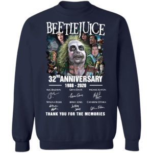 Beetlejuice 32nd Anniversary 1988 2020 Thank You For The Memories Signatures Shirt