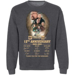 Breaking Bad 12th Anniversary 2008 2020 Thank You For The Memories Signatures Shirt
